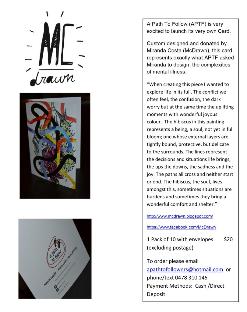 McDrawn Card Promotional flyer